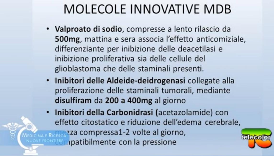 Molecole innovative nel Metodo Di Bella nei tumori cerebrali.
